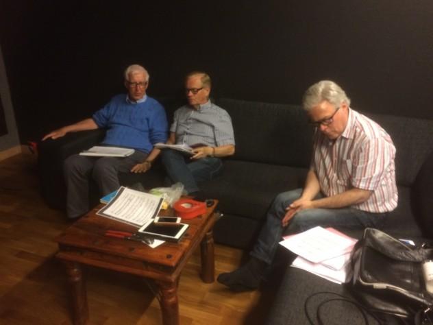Fr. v. Lars Bergman, Jan Bergman och Percy Bergman.